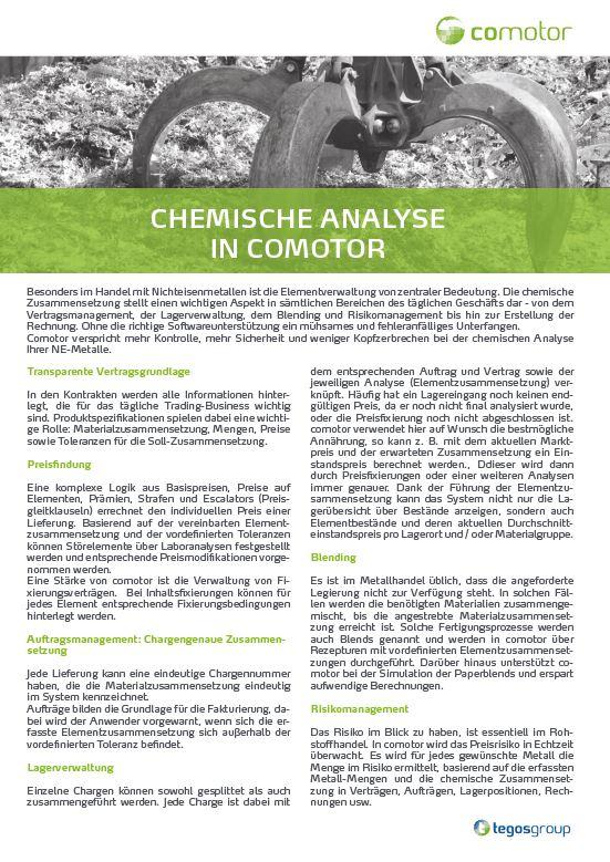 Download: Chemische Analyse in comotor