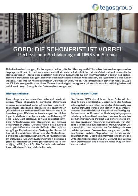 Download: Rechtssichere Archivierung mit DMS
